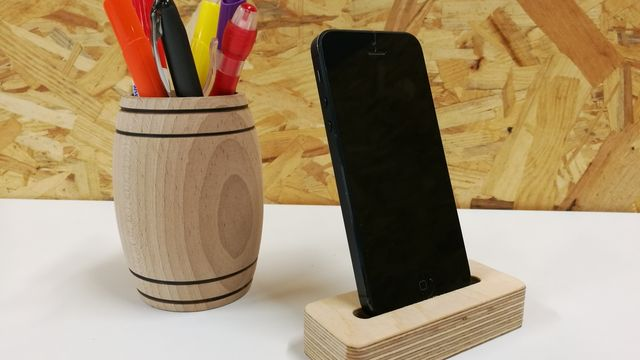 Atelier Fraiseuse numérique : dock smartphone